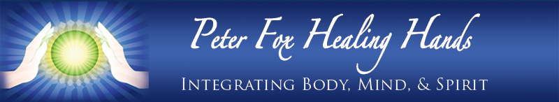 peter fox healing hands logo